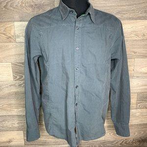 Men's Arc'teryx Grey Stripe Button Down Shirt